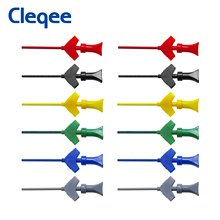 Cleqee P5003 10 Unids mini grabber SMD IC hook clip de prueba sonda jumper Accesorios de Prueba Analizador Lógico