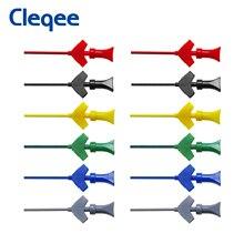 Cleqee SMD IC testowanie Hook mini analizator stanów logicznych Grabber wewnętrzne sondy sprężynowe klipy jumper connect Dupont przewód pomiarowy akcesoria