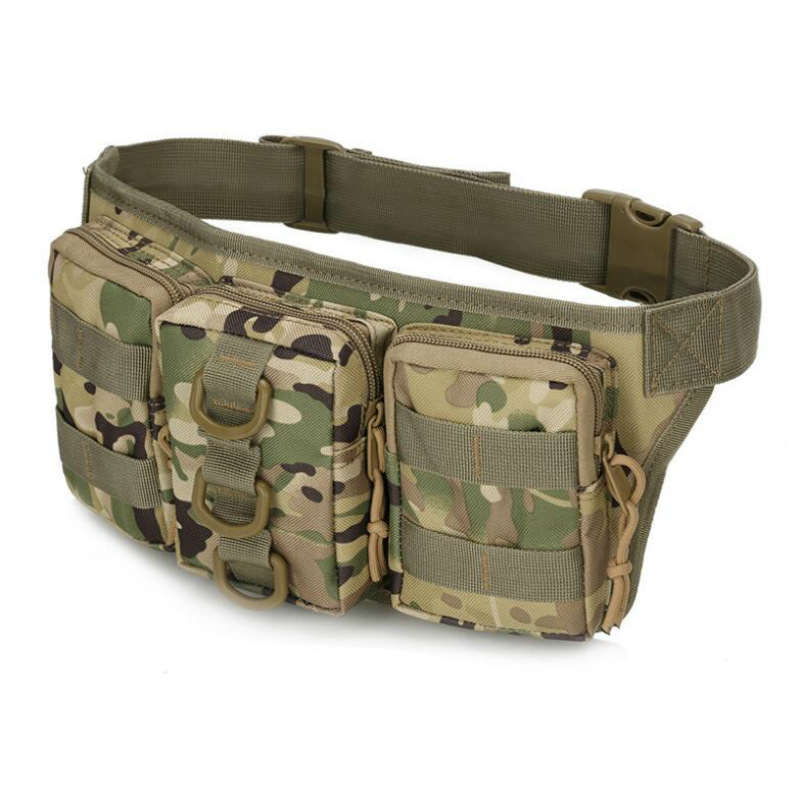 Triple Tactical Camouflage Wallet Multi-functional Outdoor Sports Riding Storgage Bag Body Hugging Convenient Mobile Phone Bag A