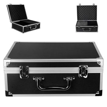 Tattoo Kit Box Tattoo Machine Case Box Lock Key Aluminum Makeup Carry Box Storage Case with Sponge for Tattoo Accessories