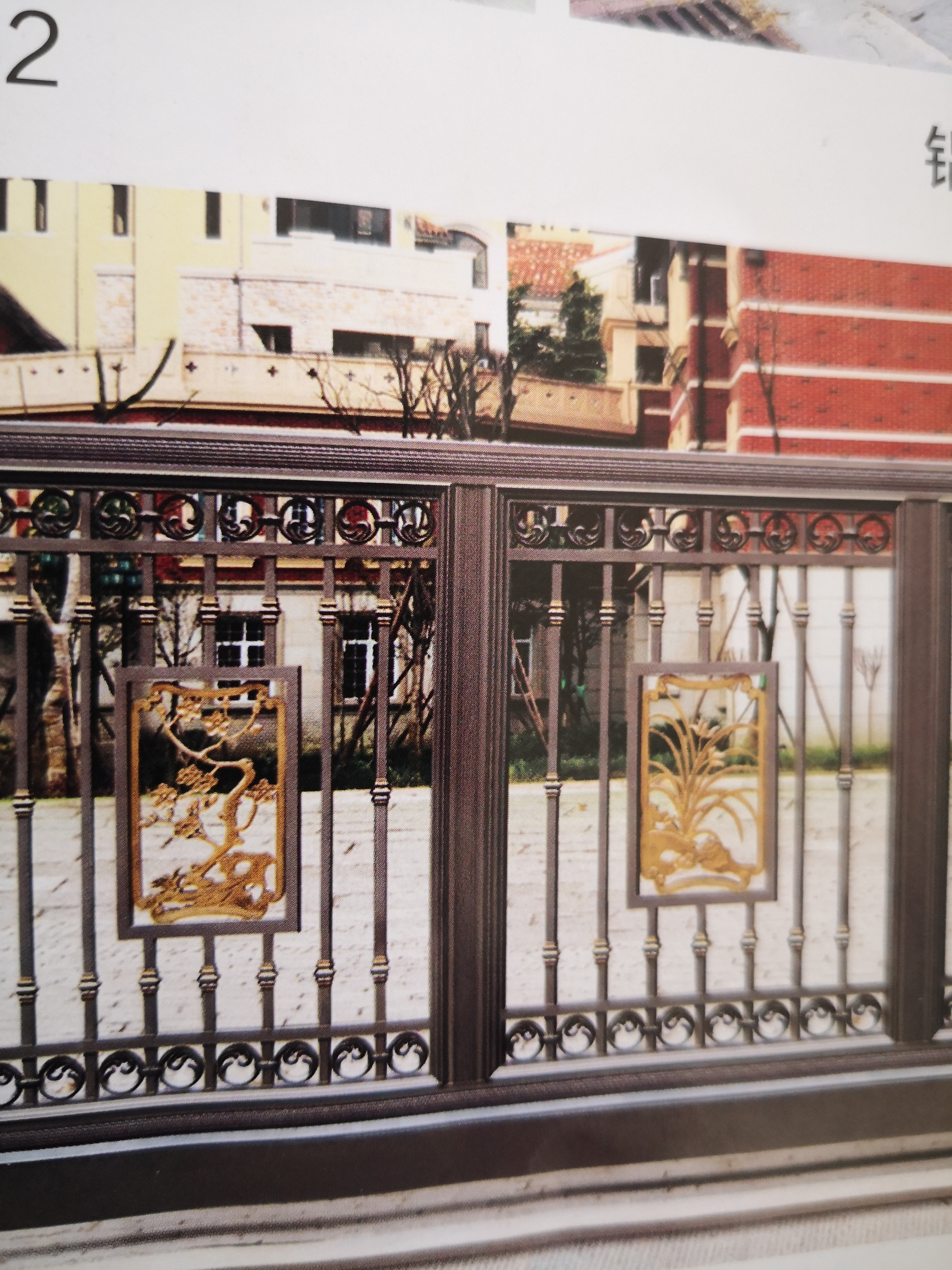Shanghai Hench  Custom USA Australia Home Use Decorative Aluminium Victorian Wrought Iron Gates