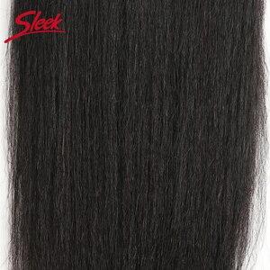 Image 4 - מלוטש ברזילאי יקי ישר תחרה סגירת 10 20 אינץ רמי שיער 4x4 בינוני חום עם מולבן קשרים תחרה סגירת משלוח חינם