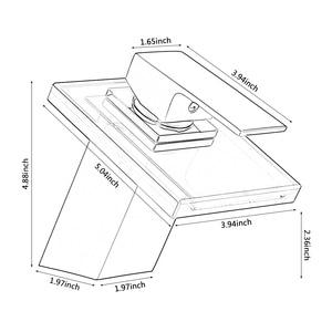 Image 5 - אמבטיה מפל ברז זכוכית מפל פליז אגן מגופים סיפון רכוב כיור מיקסר ברז
