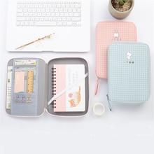 Cute Pencil Bag School Storage Bag Stationery Korean Bag Material Escolar Multifunction Big Pencil Case for Ipad Phone Box