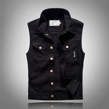 Newly Designer Fashion Men Vest Black White Printed Designer Hip Hop Denim Vest Men Casual Sleeveless Couple Punk Vest Women