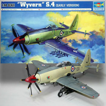 Trumpeter 02843 1/48 1:48 Scale Wyvern S.4 Early Version Fighter Plane Airplane Aircraft Toy Plastic Assembly Model Kit trumpeter 1 48 scale us c 47a c 48c skytrain transport plane airplane aircraft toy plastic assembly model kit