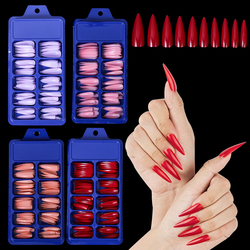 100Pcs Quick Building Mold Nail Tips Acrylic Molds Dual Forms Finger Extension False Nails UV Builder Nail Gel Art Tools