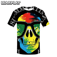 2019 Sugar Skull T-shirt 3D Printing O-neck Short Sleeve Tee Shirts Mexico Day of the Dead Calavera Personaliy Summer Casual Top