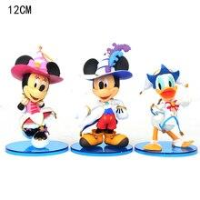 13CM Disney figürü oyuncak Minnie Mickey Mouse prenses Donald Duck PVC Action Figure duruş Anime film koleksiyonu heykelcik 5DM