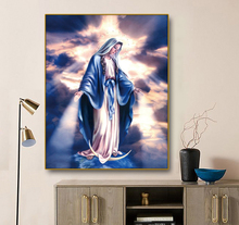 Virgin Mary Decoration Canvas Painting Calligraphy Wall Art Print Home Decor Pictures for Living Room Church