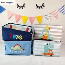 Cartoon Folding Laundry Basket Rectangle Storage Bin Bag Large Collapsible Clothes Toy Basket Bucket Organizer Large Capacity
