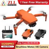 ZLL-Dron con cámara de cardán de dos ejes SG108PRO, GPS, 5G, WIFI, 4K, SG108, Mini cuadricóptero profesional, Motor sin escobillas, cámara Dual, RC