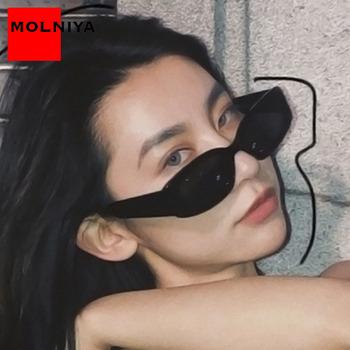Moda okulary w stylu Retro kobiety kwadratowe okulary przeciwsłoneczne damskie marka dizajnerskie okulary damskie lustro Oculos De Sol tanie i dobre opinie MOLNIYA CN (pochodzenie) WOMEN Rectangle Dla dorosłych Z tworzywa sztucznego Gradient Fotochromowe Antyrefleksyjną UV400