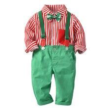 Детское рождественское платье Симпатичный хлопковый комплект