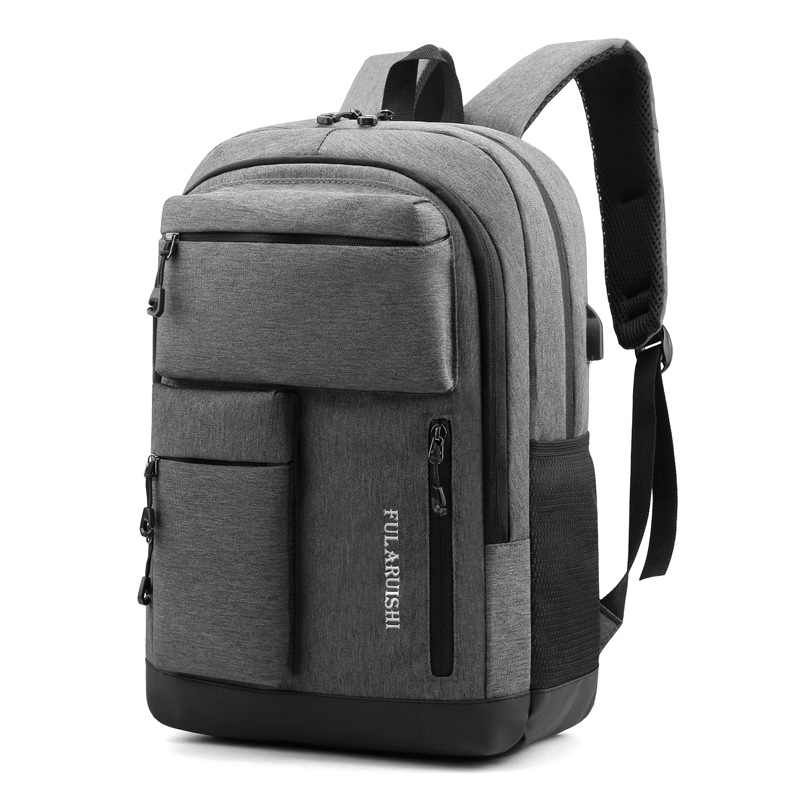 New High Quality Laptop Backpack Men Bookbag Black Bagpack Travel Backpack School Bags for Teenage Boys Mochila image