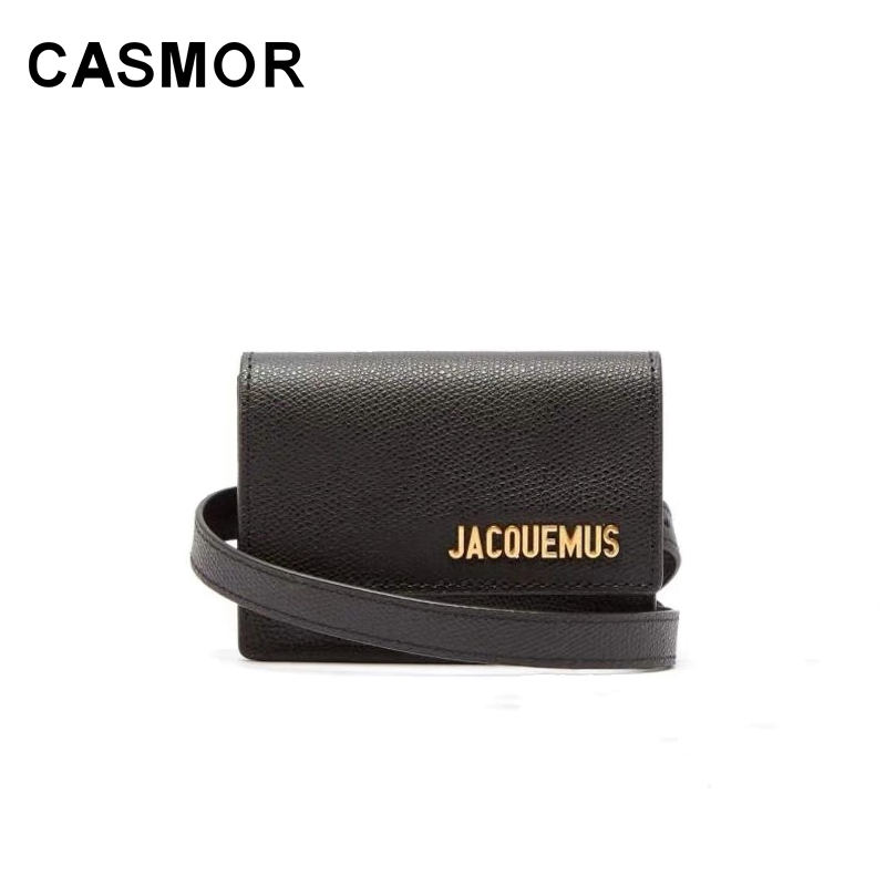 CASMOR Designers Jacquemus Bag 2019 Fashion Mini Belt Messenger Bag Ladies Luxury Leather Solid Color Wallet Card Package