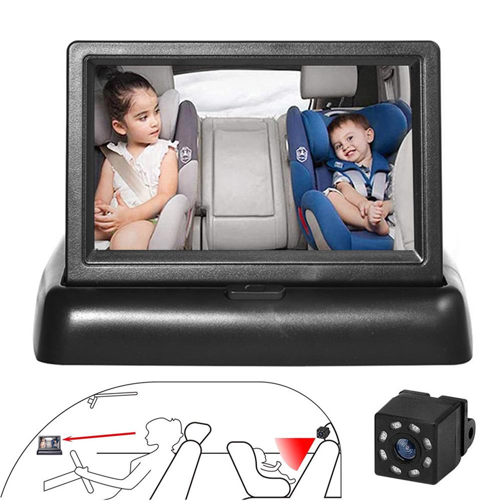 Car Baby Seat Mirror View Rear Facing Infrared Night Vision Car Seat Monitored Mirror Camera For Baby Safty