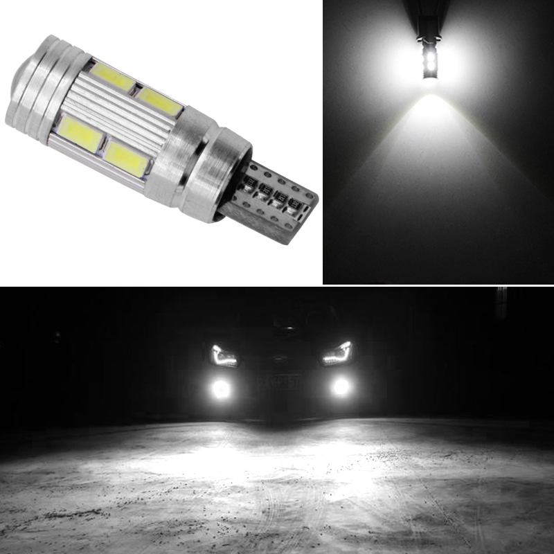 1x W5W <font><b>T10</b></font> LED Canbus No Error 12V 6000K 5630 <font><b>10</b></font> <font><b>SMD</b></font> Car 5W5 LED Bulb Separation Wedge Side Flashing Light Super Bright White image