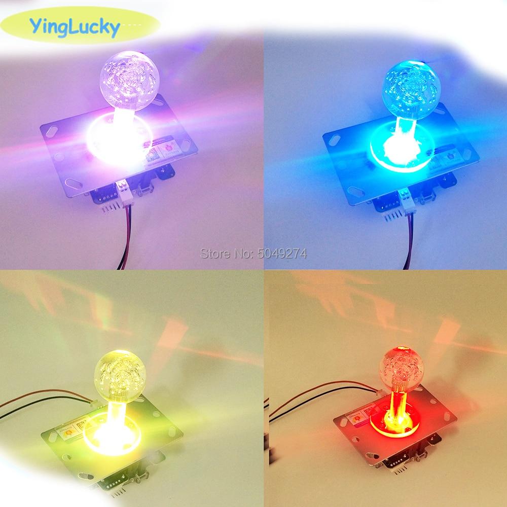 Yinglucky Arcade Joystick 5v Luminous Colorful Joystick Sanwa Joystick For Arcade Doll Machine Pandora Box