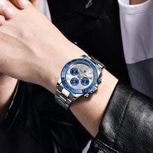 Часы pagani design Мужские спортивные из нержавеющей стали брендовые