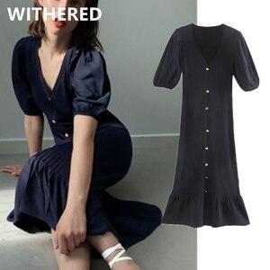 Женское винтажное трикотажное однобортное летнее платье ins, Вечерние Платья vestidos de fiesta de noche