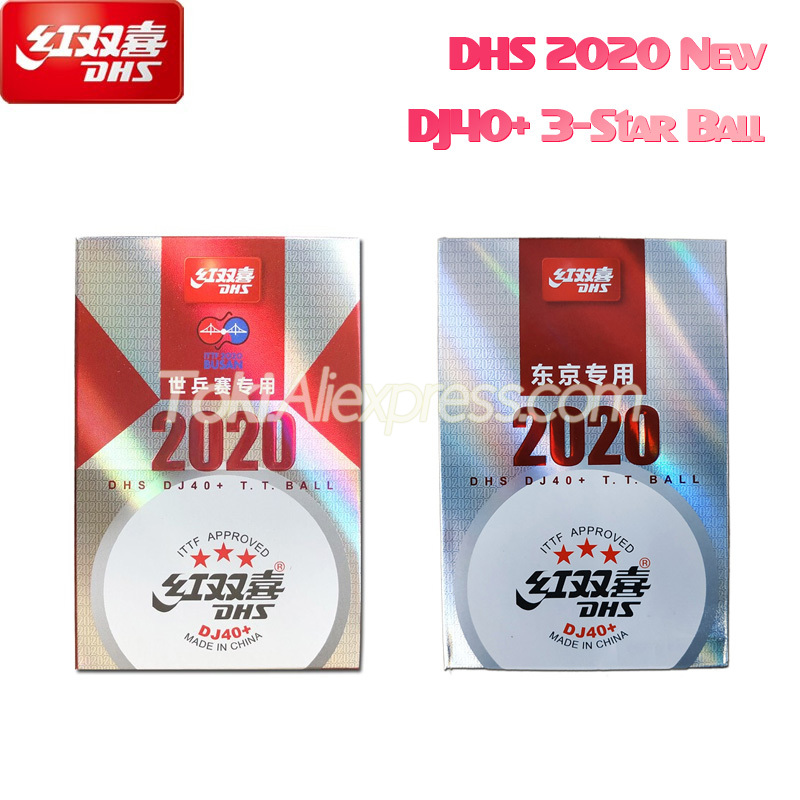 2020 New DHS DJ40+ 3-Star Table Tennis Ball For TOKYO Olympic Games ITTF BUSAN World Tour Plastic ABS DHS 3 Star Ping Pong Balls