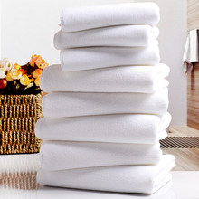 10PCS White Ultra Soft Microfiber Fabric Face Towel Hotel Bath Towel Wash Hand Towels Portable Terry Towel Multifunctional Towel