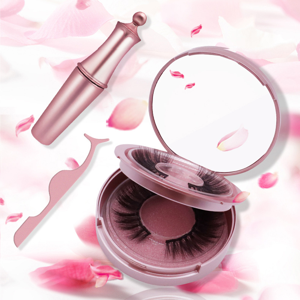Magnetic False Eyelashes Magnetic Eyeliner Set Waterproof Smudge Proof Easy To Wear Beauty Makeup Cosmetics Women Gift