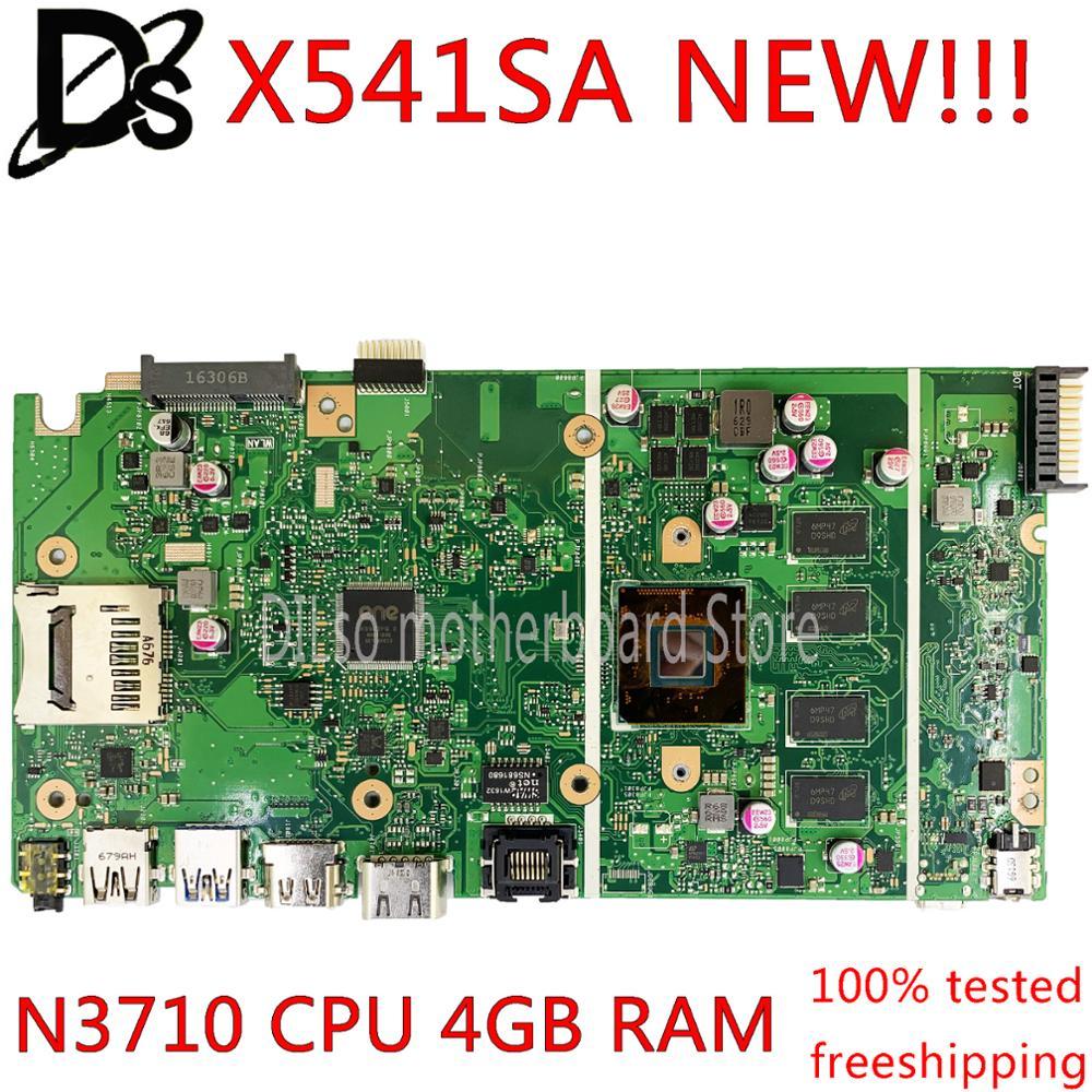 KEFU X541SA Motherboard REV2.0 Fit For ASUS X541SA X541S Dual-core N3710 CPU Laptop Motherboard 4GB Memory Test Work 100%