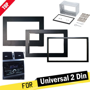 178 x 102mm car frame for Universal 2 din auto radio / android player Frame Retrofitting decorative framework panel image