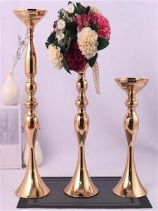 Vase-Candlestick-Centerpieces Candle-Holders Flowers Christmas-Decoration Wedding-Porps