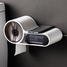Baffect浴室トイレットペーパーホルダーペーパーティッシュボックスプラスチックトイレディスペンサー壁はロール紙収納ボックスパンチ