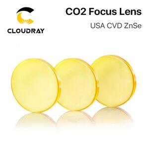 """Image 4 - الولايات المتحدة الأمريكية ZnSe CO2 عدسات تركيز Dia. 12   20 مللي متر FL 50.8 63.5 101.6 مللي متر 1.5   4 """"CVD لآلة قطع النقش بالليزر شحن مجاني"""