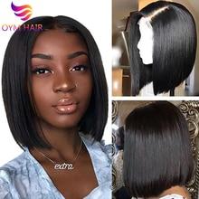 Парики 13x4 Синтетические волосы на кружеве парики из натуральных волос на кружевной перуанский волос Remy человеческие волосы парики предварительно вырезанные отбеленные для женщины 150