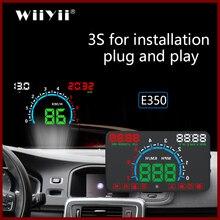 GEYIREN pantalla para coche E350 OBD2 II HUD, pantalla de 5,8 pulgadas, alarma de exceso de reproducción y conexión fácil, pantalla de consumo de combustible, proyector hud