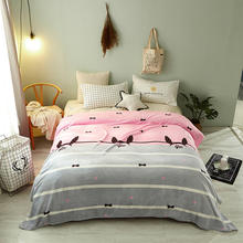 Home Textile,2015 New  100% coral fleece flannel fabric super soft air-condition blanket cartoon 4 size 230x200cm
