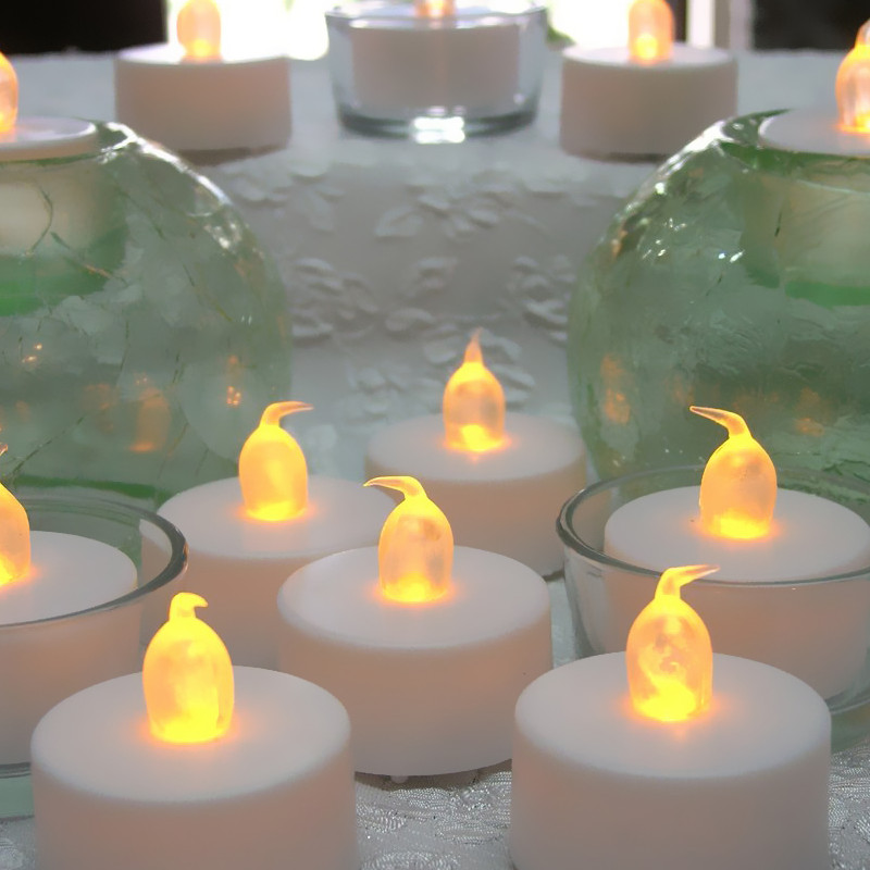 Romantic LED Candle Lamp LED Tealights Battery Operated Flickering Tea Light Candles Wedding Candle Birthday Party Home Decor