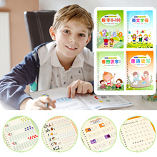 Magic Practice Copybook Set Children Reusable Handwriting Calligraphy Write Book For Learning Chinese Number Letter