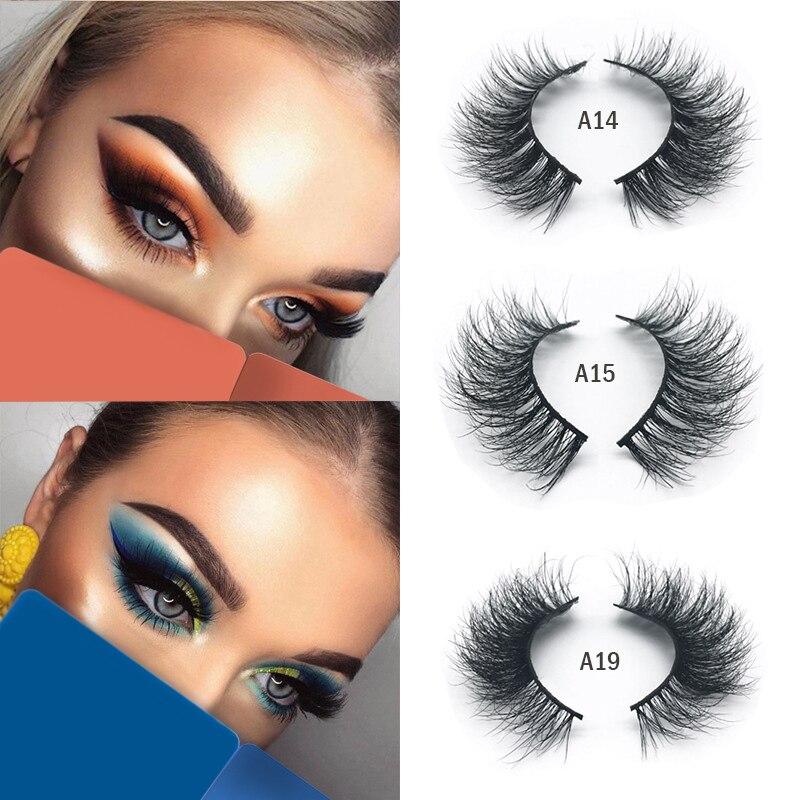 Mangodot Mink Eyelashes Thick 3D HandMade Lashes Full Strip Fake Mink Eyelash Cruelty Free Luxury 1pair False Eyelashes A14