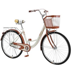 Vintage Bike 26 Inch Classic Bicycle Retro Bicycle Beach Cruiser Bicycle Retro Bicycle Classic Retro ele for Travel