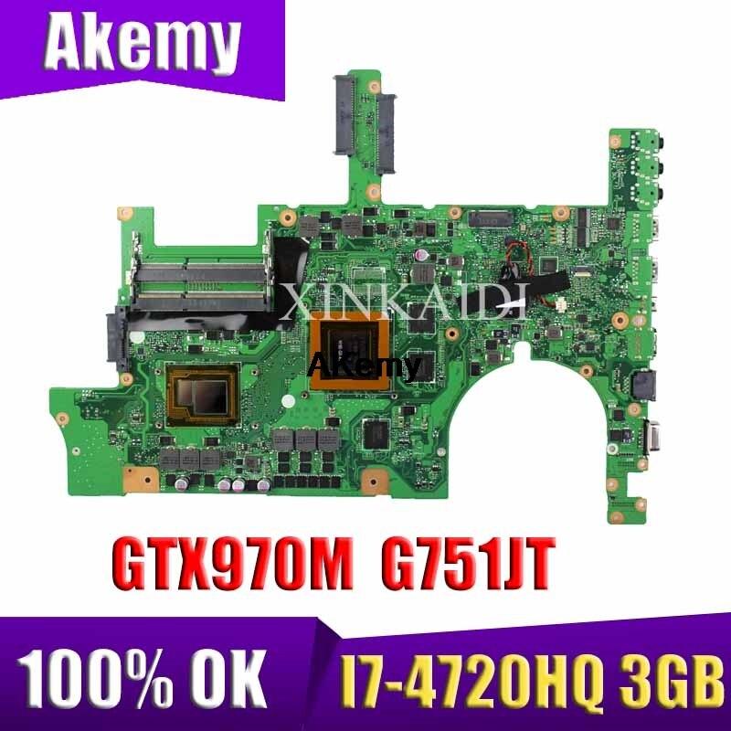 Материнская плата G751JT, материнская плата для ноутбука MB 0M/I7 4720HQ GTX970M 3 ГБ 90NB06M1 R00040 Asus ROG G751JT G751JY G751JL G751J G751