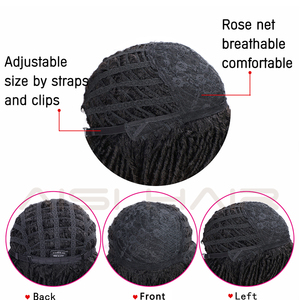Image 5 - AISI HAIR 14 Soft Dreadlocks Hair Wig Short Synthetic Wigs For Black Women Black Brown Crochet Braids Wigs Heat Resistant