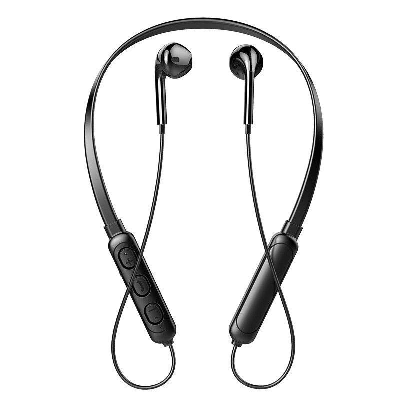 New Style Hanging Neck Sports Wireless Bluetooth Headset Earphone Binaural Running Mini Neck Hanging Music Earplugs