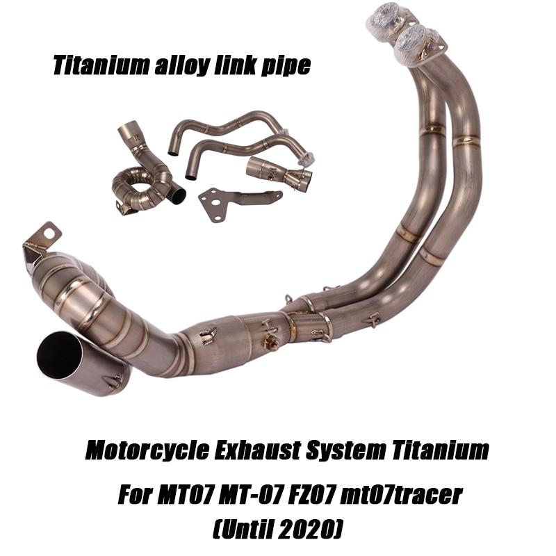 Передние выхлопные трубы из титанового сплава для мотоцикла