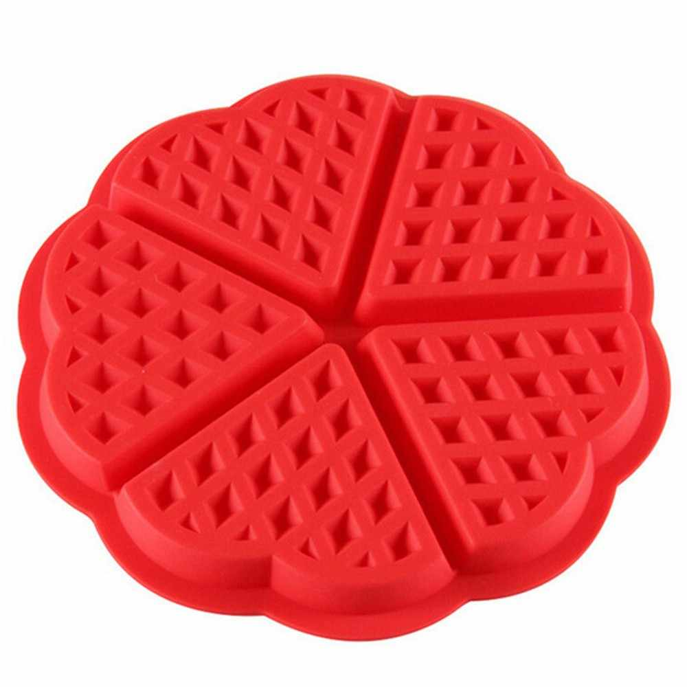 Keuken Siliconen Mini Ronde Wafels Pan Cake Bakvorm Mold Wafel Lade Taart Decoreren Gereedschappen Cookie Cutters Siliconen Mal