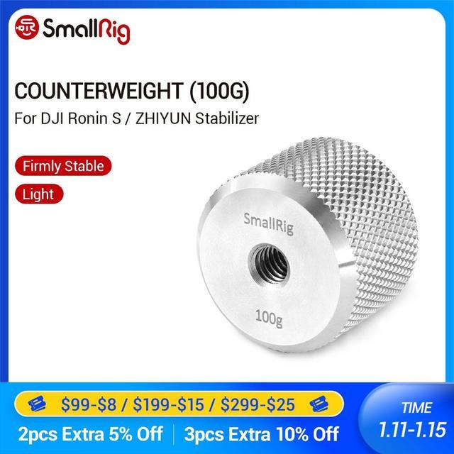 SmallRig Gegengewicht (100g) platte Mit 1/4 Threading Loch für DJI Ronin S und Zhiyun Gimbal Stabilisator 2284