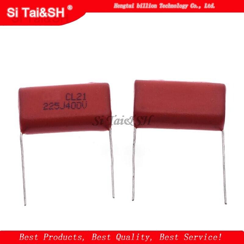10PCS 400V225J 2.2UF Pitch 20M  225J400V 225 400V 2200PF CBB Polypropylene film capacitor