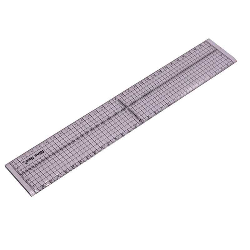 1 Pcs 300 * 50mm Handmade Patchwork Ruler With Iron Side And No Iron Side Arbitrary Choice Acrylic Material Standard Scale