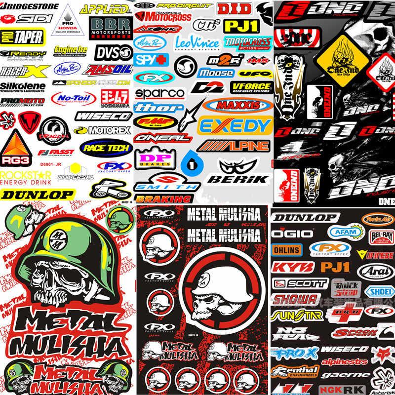 Motocross Racing Helm Sepeda Motor Stiker Lucu Truk Grafis Sepeda Vinyl Stiker Mobil untuk Honda Yamaha KTM BMW Suzuki Kawasaki
