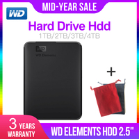 Western Digital WD Elements 2.5 Portable 1TB 2TB 3TB 4TB USB3.0 External Hard Drive Hdd Disco Duro Externo Disque Portable